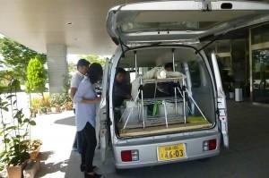 高性能の放射線測定器を搭載した測定専用車